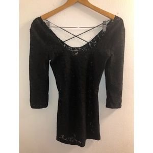 Intimately Free People Lace 3/4 Sleeve Top